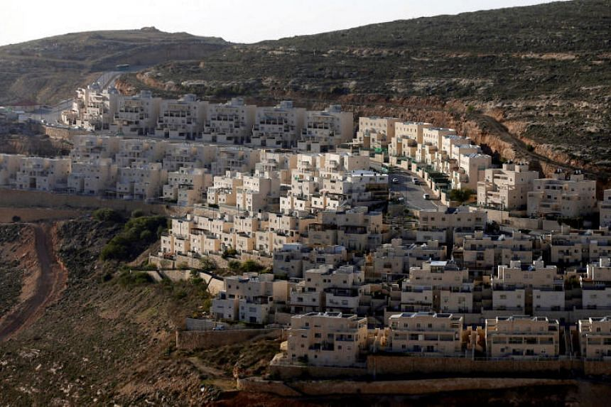 General view of houses of the Israeli settlement of Givat Ze'ev, in the occupied West Bank on Feb 7, 2017.