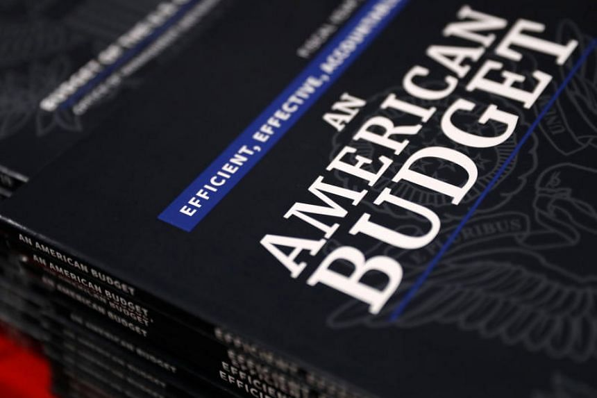 New copies of President Donald Trump's Budget for the US Government for the Fiscal Year 2019 lay on a display table at the US Government Publishing Office in Washington, US on Feb 12, 2018.