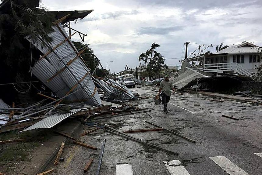 Nuku'alofa awoke to scenes of devastation on Feb 13 after the most powerful cyclone ever recorded in the Tongan capital tore roofs off buildings and caused extensive flooding.
