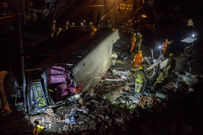 Nineteen people died and 66 others were injured on Feb 10 when a KMB double-decker travelling from Sha Tin racecourse towards Tai Po suddenly swerved out of control and flipped on its side.