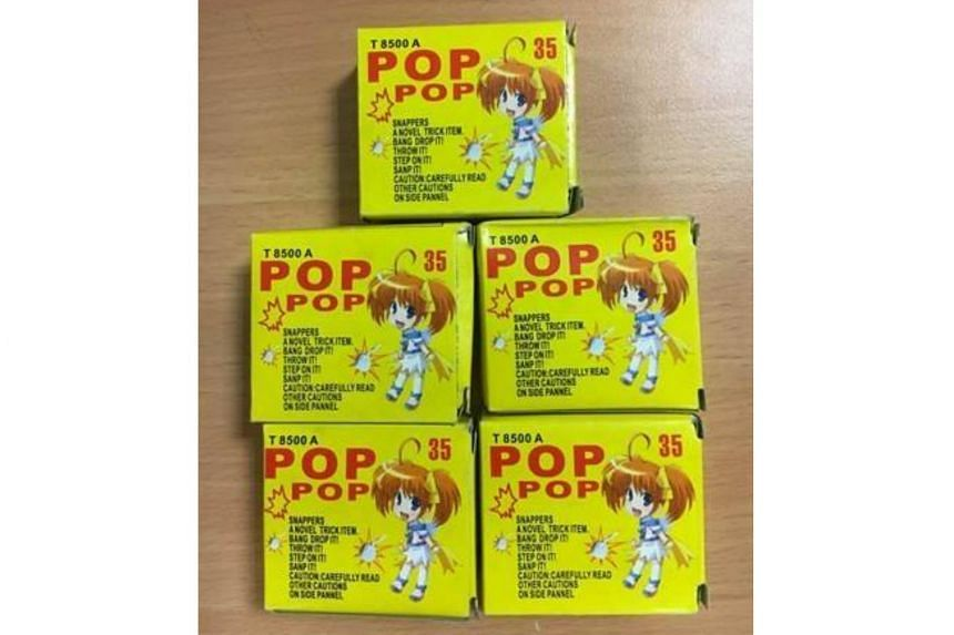 Five boxes of 'Pop-Pop' were detected under the front passenger seat.