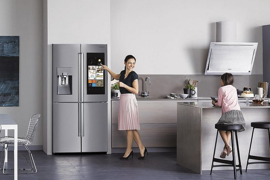 The Samsung Family Hub Smart Fridge can store family members' schedules and provide personalised information.
