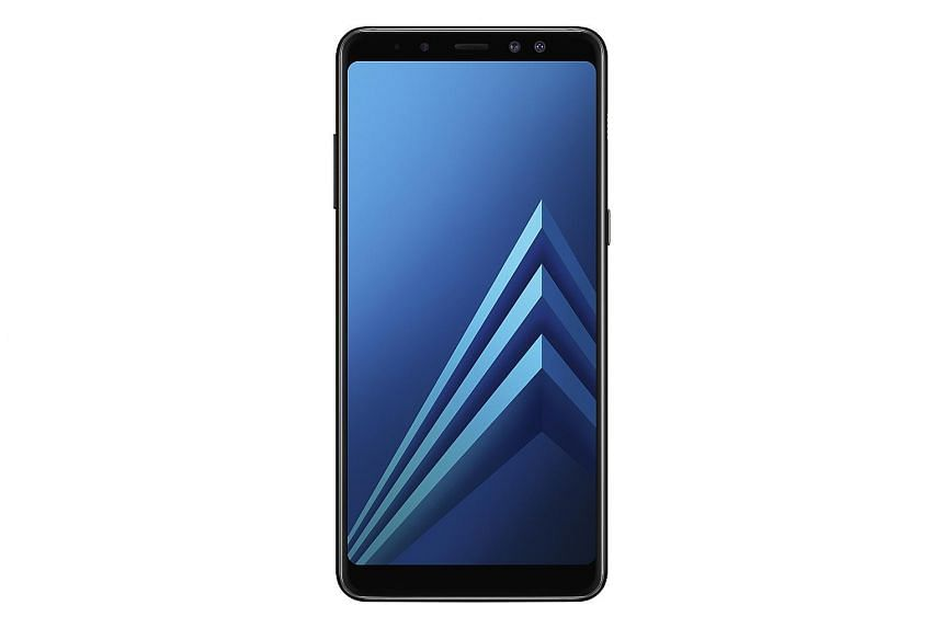 Battery life for Samsung's first smartphones of the year, the Galaxy A8+ and A8 (above), is excellent.