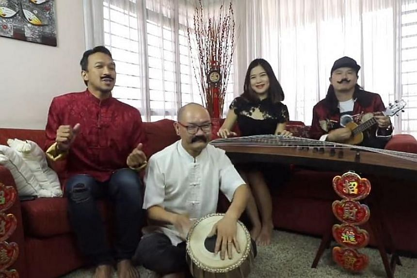 The upbeat one-minute and 41-second video sees four Malaysians singing the classic Chinese New Year song He Xin Nian (Celebrating the New Year) with a Malaysian twist.