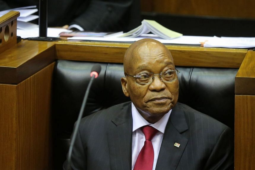 A no-confidence vote against South African President Jacob Zuma (pictured) has been brought forward from Feb 22 to Feb 15, 2018.