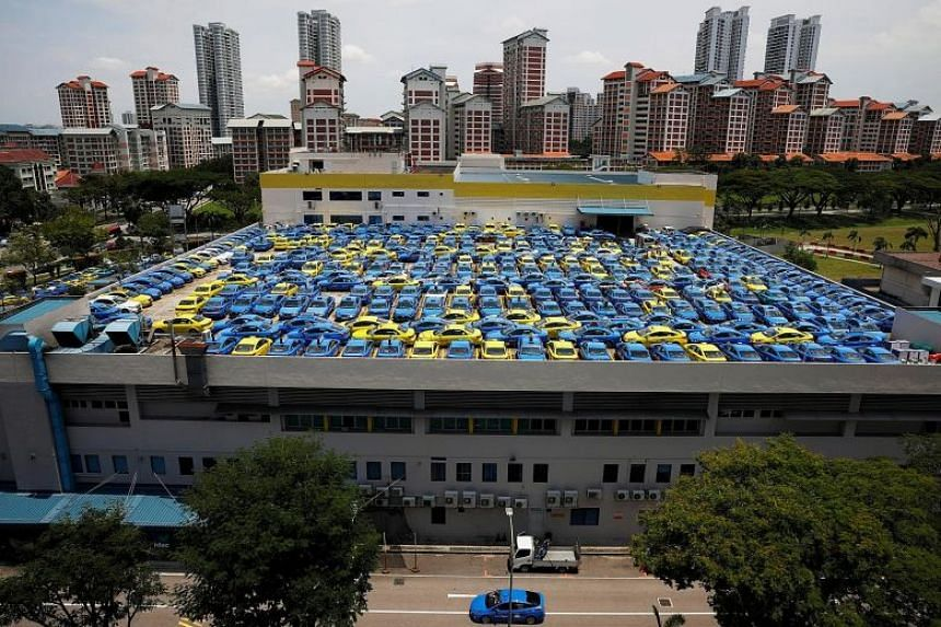 ComfortDelGro's fleet has shrunk by more than 20 per cent to 13,200 since 2014, and group chief executive Yang Ban Seng said it will not be buying any more taxis for the 2018 financial year.