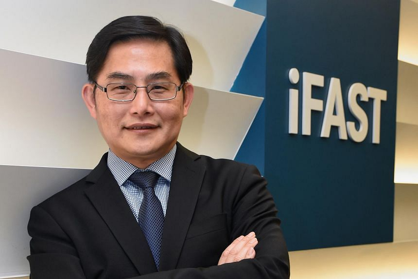 Chairman and chief executive of iFast, Mr Lim Chung Chun. On an annual basis, iFast recorded a 45.8 per cent increase in net profit to S$13.21 million for fiscal 2017.