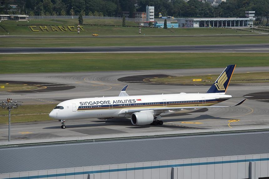 A Singapore Airlines aircraft at the Changi Airport.
