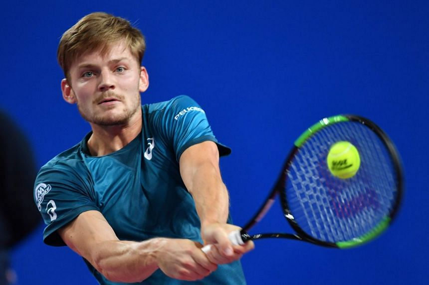 Goffin (above) came through 6-1, 6-3 to post his fourth victory over the Frenchman in five meetings.