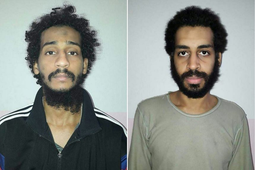 British Defence Secretary Gavin Williamson told the British newspaper the Sun that the men, El Shafee Elsheikh (left) and Alexandra Kotey (right), turned their back on Britain and should never set foot in the country again.