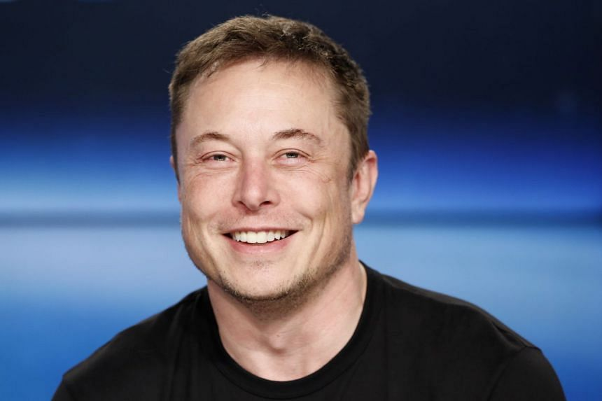 SpaceX founder Elon Musk at a press conference following the first launch of a SpaceX Falcon Heavy rocket.