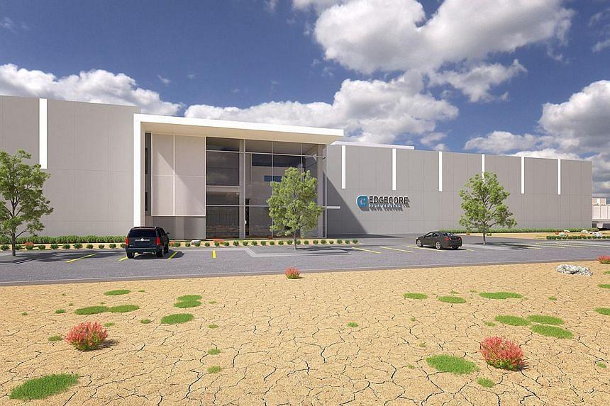 An artist's impression of the EdgeCore data centre in Reno, Nevada.