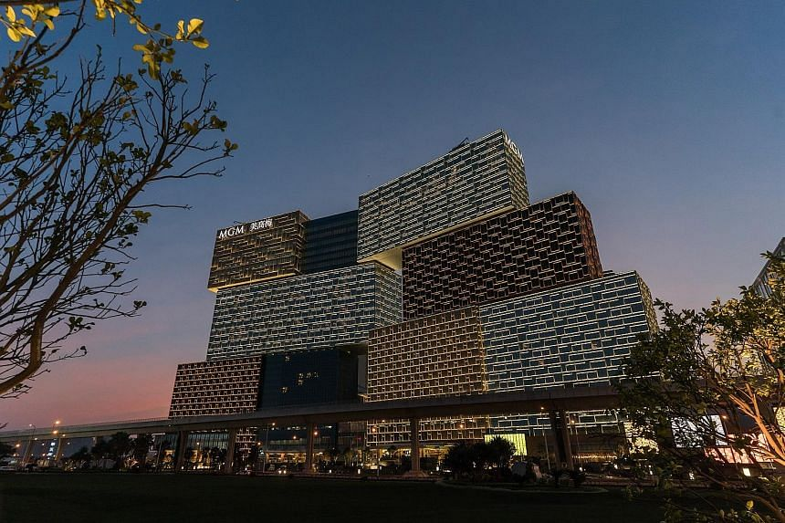 The MGM Cotai casino resort in Macau opened on Tuesday.