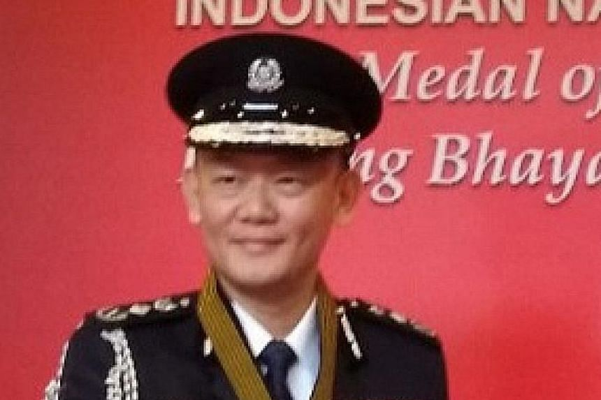 Mr Hoong Wee Teck was recognised for his outstanding contributions to the maintenance of regional security.