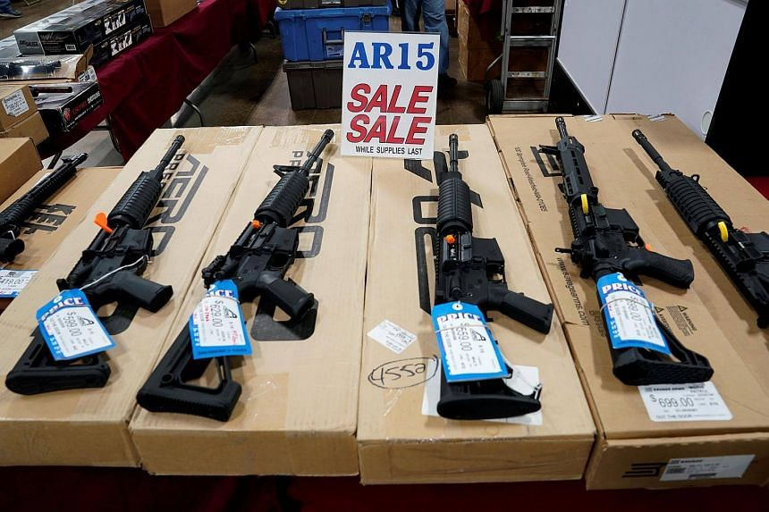 The AR-15 semi-automatic rifle (pictured) is among the must-have weapons for American enthusiasts, and has been used in several mass shootings in the US.