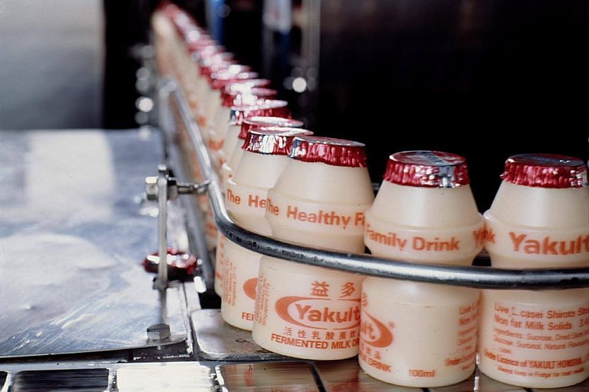 Yakult shares tumbled as much as 8.2 per cent, the most since June 2016, in early trading in Tokyo on Thursday (Feb 15).