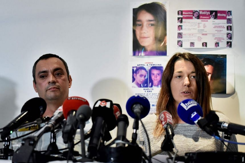 The girl's parents, Joachim and Jennifer de Araujo, addressing a press conference in September 2017.