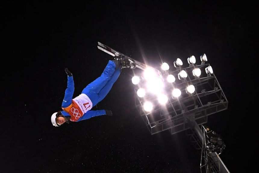 Madison Olsen of the US in action at the Winter Olympics 2018.
