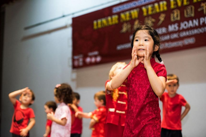18 children from Sam's Learning Centre put up a performance for the Chinese New Year celebration held at Henderson Community Centre.