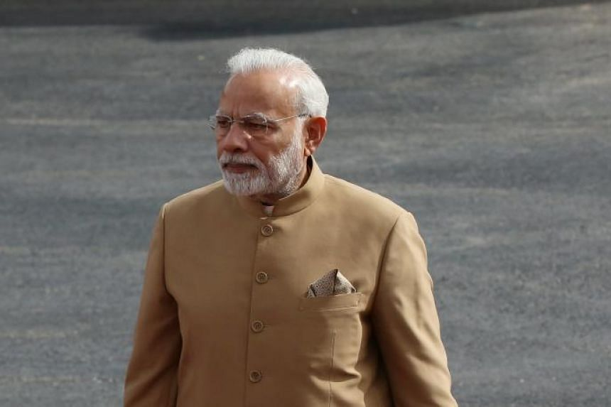 Indian Prime Minister Narendra Modi in Ramallah, on Feb 10, 2018. He visited Arunachal Pradesh as part of a tour of India's northeastern states.