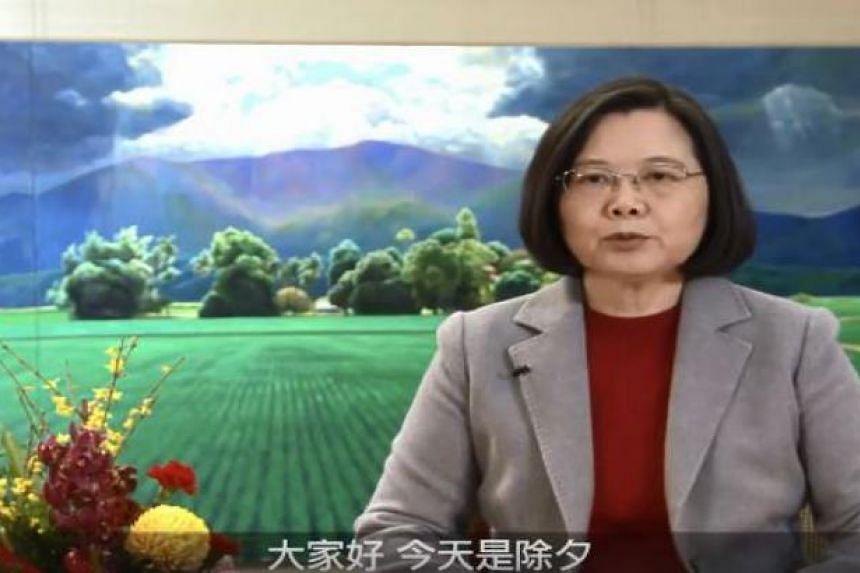 In a video message to mark Chinese New Year, which falls on Friday, Ms Tsai said the festival was an important one for people on both sides of the Taiwan Strait as they share many of the same traditions.