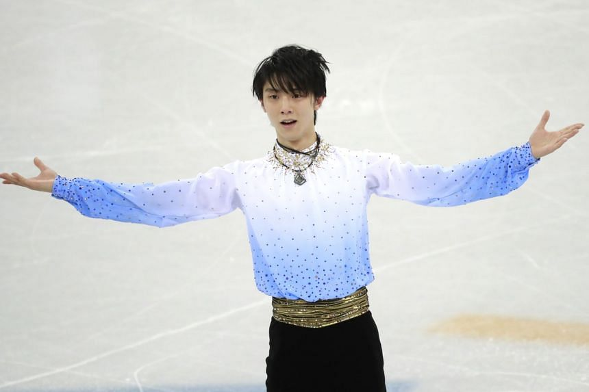 Yuzuru Hanyu finished first in the short programme with a score of 111.68.