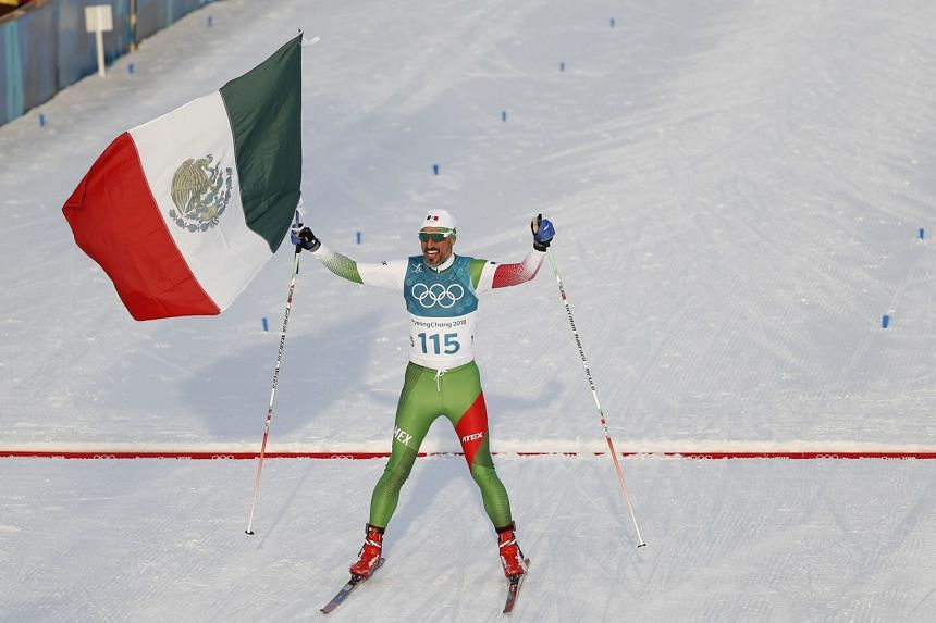 German Madrazo was the last of 116 athletes to finish the 15km freestyle cross-country race.