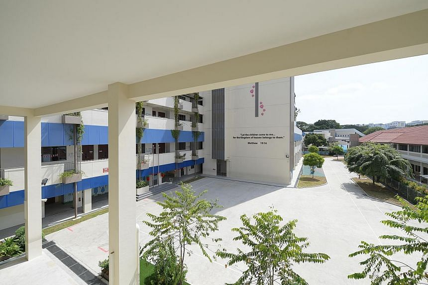The Canossian family's new pre-school, located in the Canossian Eduplex (above) in MacPherson, now has 70 children, seven of whom have hearing loss. The group is setting up a team of pastoral workers and specialists this year to cater to children who