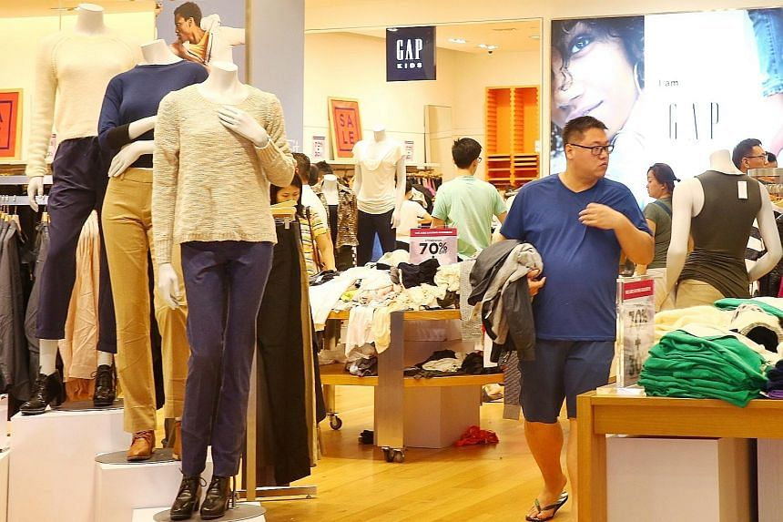 The Gap store at Suntec City yesterday. FJ Benjamin Group chief executive Nash Benjamin had said in an interview last October that it intended to discontinue the franchise business for its loss-making brands, and shut its 20 Gap and Banana Republic s