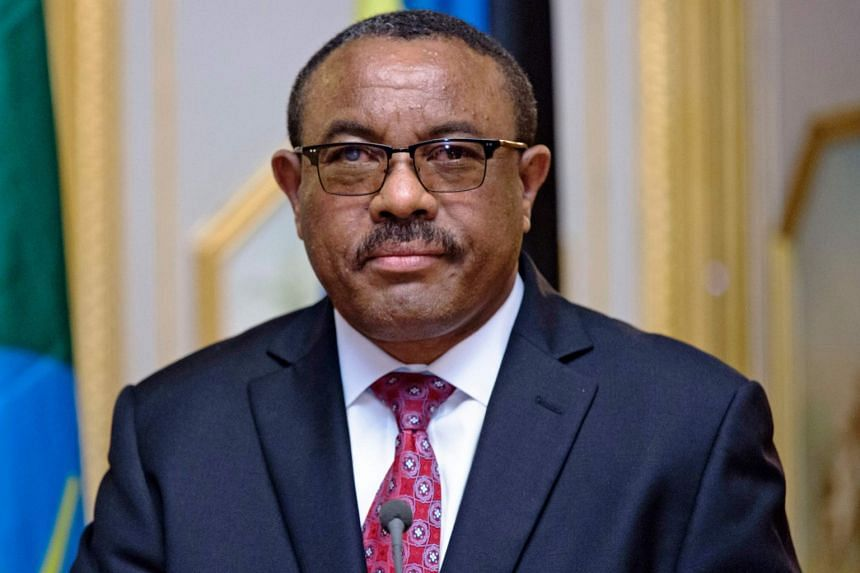 The resignation of Hailemariam (above, in 2017) follows years of violent unrest that threatened the ruling party's hold.