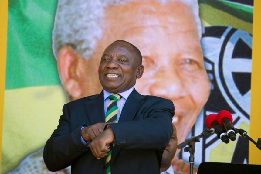 Ramaphosa (pictured) was sworn in as head of state on Feb 15, 2018, after his scandal-plagued predecessor, Jacob Zuma, reluctantly resigned on orders of the ruling African National Congress (ANC).