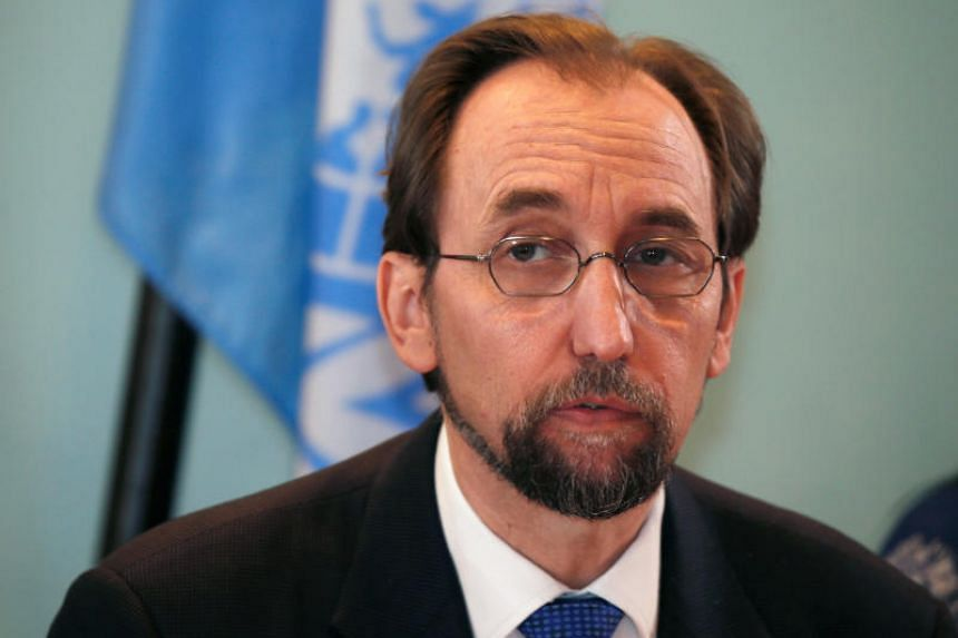 """UN High Commissioner for Human Rights Zeid Ra'ad al-Hussein said in a statement that the execution of juvenile offenders is """"unequivocally prohibited under international law""""."""