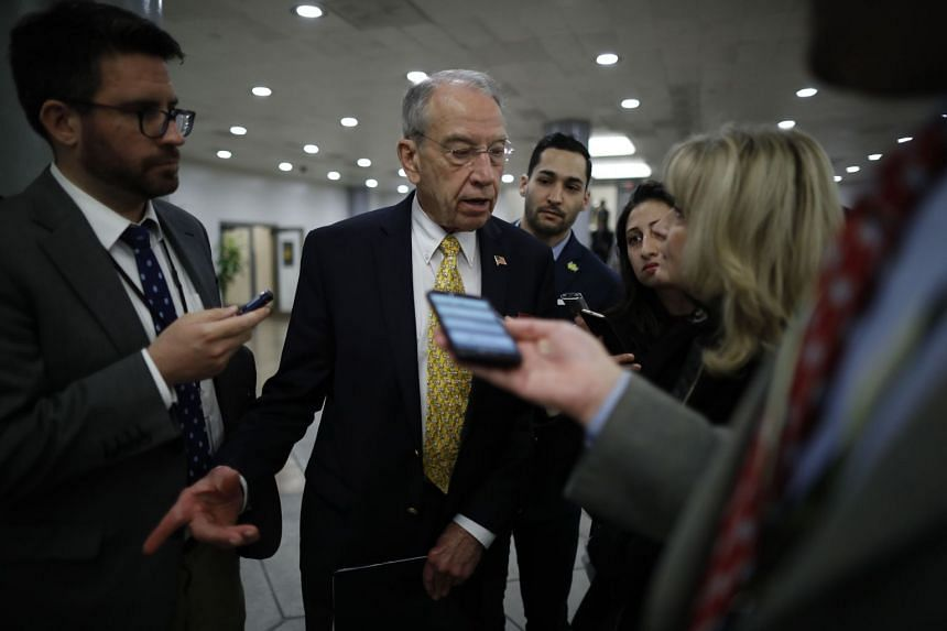 Republican Senator Chuck Grassley speaking to reporters on Capitol Hill on Feb 15, 2018 in Washington, DC.