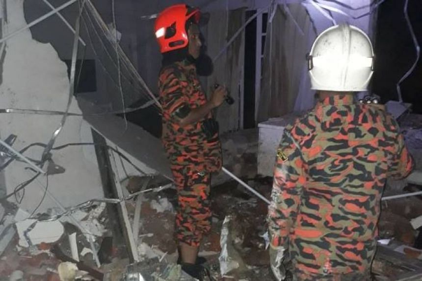 Pahang Fire and Rescue Department (JBPM) deputy director Mohd Sani Harul said debris from the incident at 2am injured a senior citizen and a small boy.