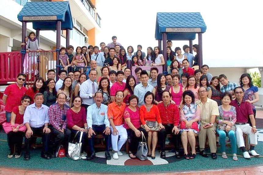 Three generations of the Thia family, made up of more than 80 family members from Singapore and Malaysia, will gather to celebrate the Year of the Dog on Feb 18, 2018.