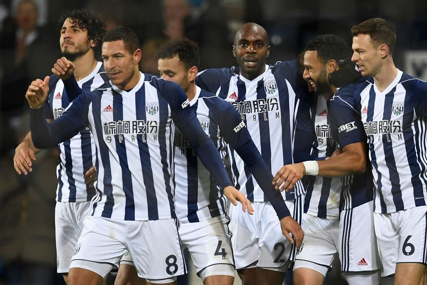 West Brom's Livermore (second left) and Evans (far right) were among the four who took the taxi.