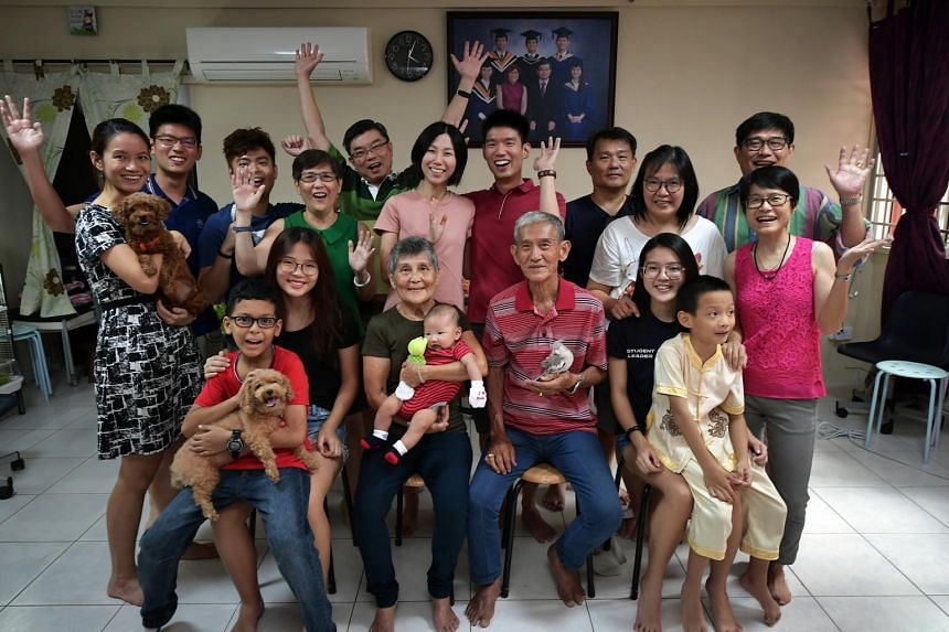 The Ng family celebrated their first reunion dinner as a four-generation family on Feb 15, 2018.