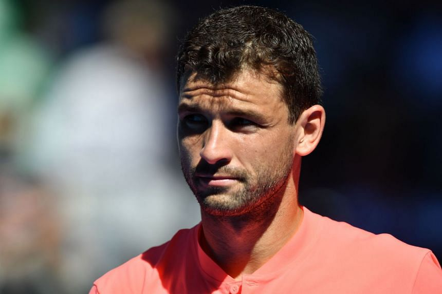 Dimitrov (above) dispatched young Russian Andrey Rublev 6-3, 6-4.