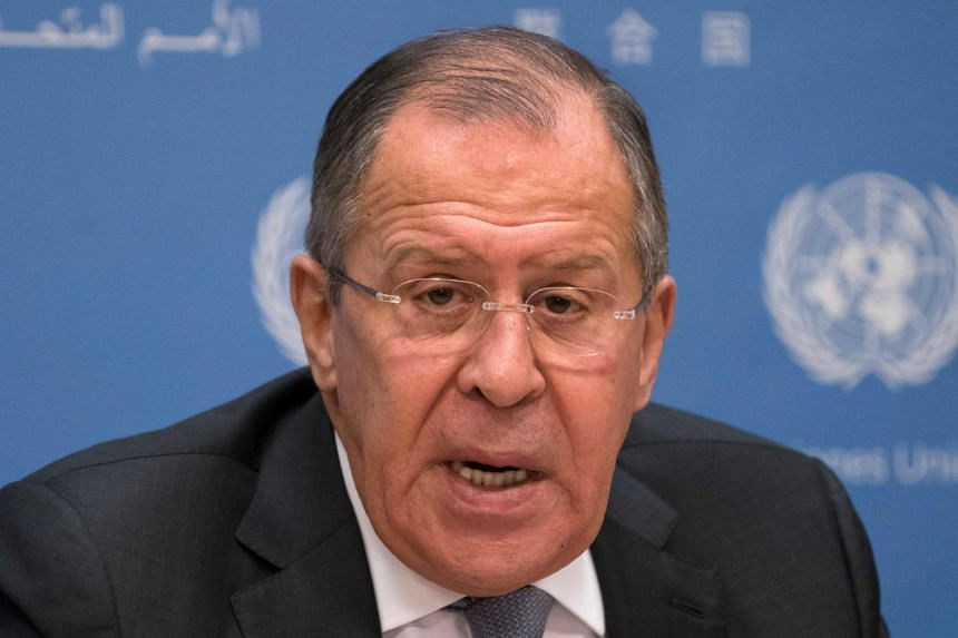 Lavrov (above, in a file photo) was speaking a day after the US indicted 13 Russians for running a secret campaign to sway the American vote.