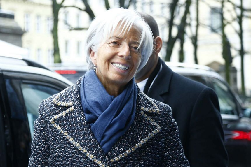 Lagarde arriving at the Munich Security Conference, Feb 16, 2018.