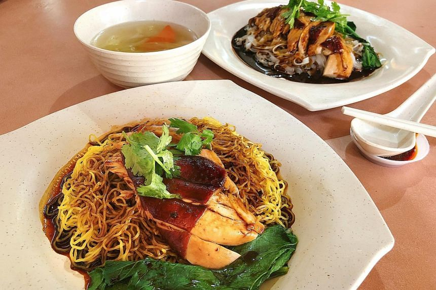 Soya Sauce Chicken Noodle and Soya Sauce Chicken Ipoh Hor Fun from Kim Kee Hong Kong Soya Sauce Chicken Rice and Noodle.