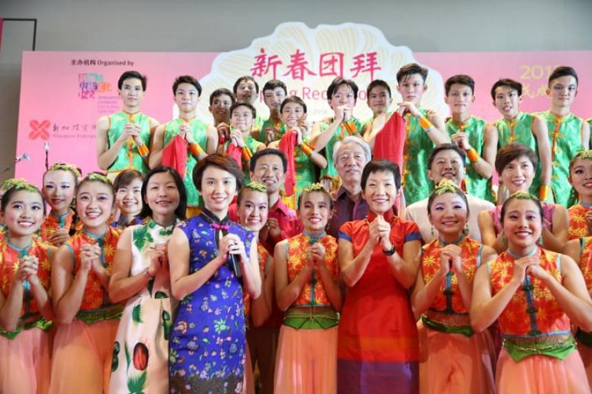 DPM Teo Chee Hean, along with other ministers and MPs, attended the annual spring reception held by the Singapore Chinese Cultural Centre and Singapore Federation of Chinese Clan Associations on Sunday (Feb 18).