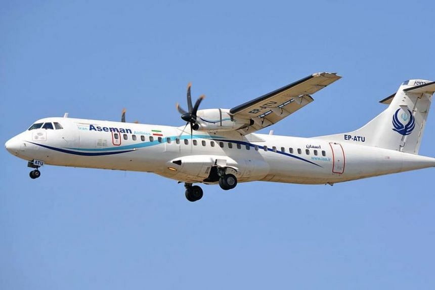 An ATR passenger plane from Iran's Aseman Airlines (example pictured) crashed in central Iran on Feb 18, 2018, according to Iranian emergency services.