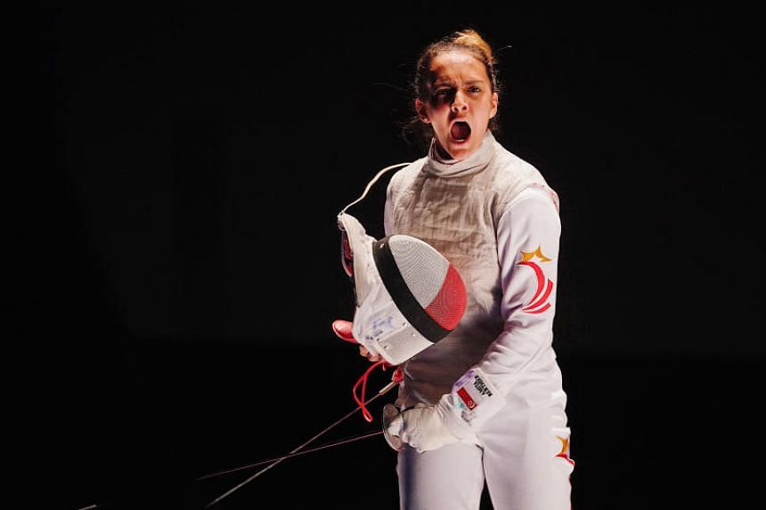 Amita Berthier finished sixth in the final leg of the Junior World Cup competition, propelling her to a career-high second in the women's foil world junior rankings.
