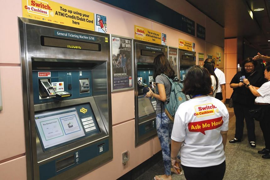 From March 21, passengers will only be able to do cash top-ups on their ez-link cards at the self-help ticketing machines in MRT stations.
