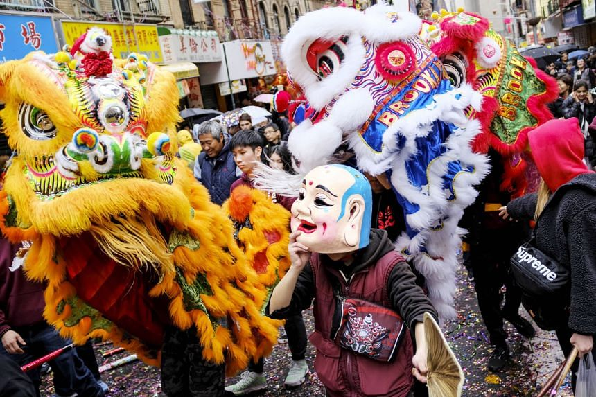 US: Lion dancers in Manhattan's Chinatown all set to give a roaring welcome to the new year.