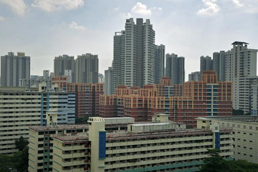 Housing Board flats in Toa Payoh. Singles will now getting a $10,000 grant if they buy a Housing Development Board (HDB) resale flat near their parents.