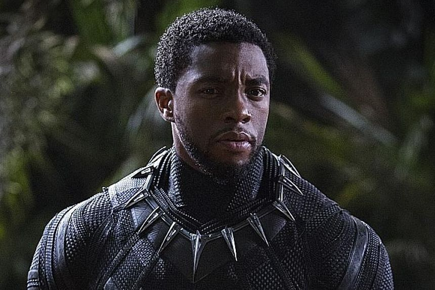 Chadwick Boseman stars as Black Panther.