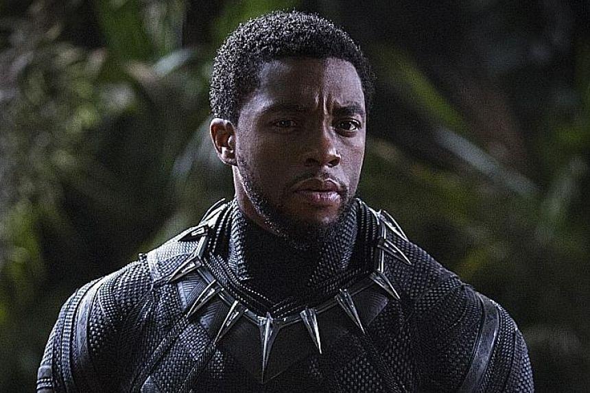 Chadwick Boseman stars as Black Panther.