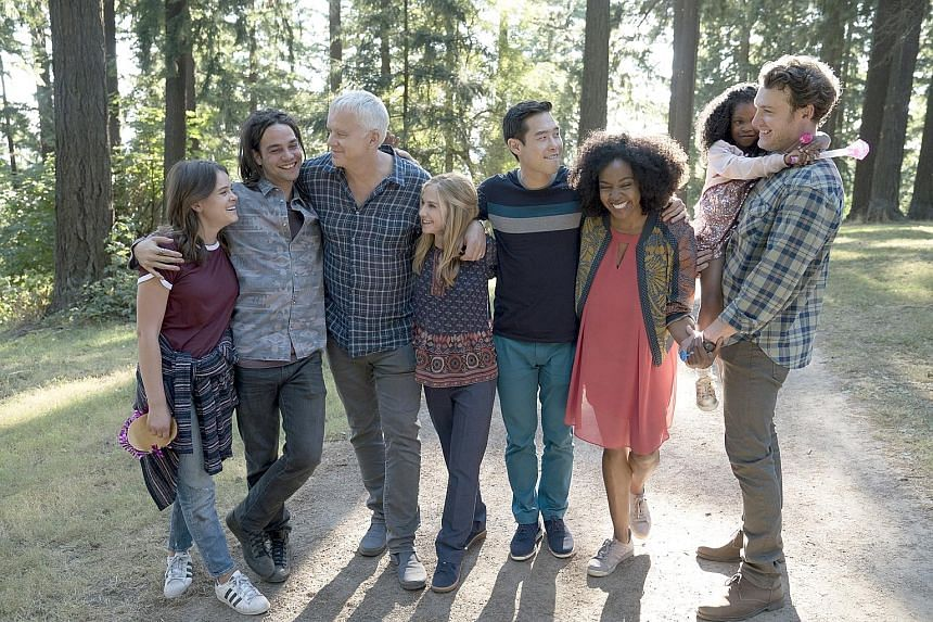 Here And Now explores its main characters' disappointment in the crumbling of American liberal democratic ideals, while poking fun at the complacency of educated white liberals themselves.